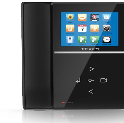 یفون تصویری الکتروپیک مدل 592 جدیدطراحی زیبا با نمایشگر 4 اینچ رنگ مشکیقابلیت افزودن حافظه جانبی: تا 16 گیگا بایت با کارت (SD)قابلیت عکس برداری و ضبط فیلم
